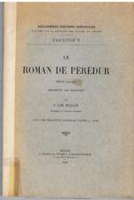 LE ROUX - LE ROMAN DE PEREDUR TEXTE GALLOIS TRADUIT EN BRETON-LIVRE ANCIEN RARE