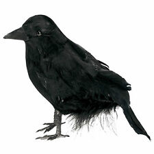 Gothic Halloween Small Black Feathered Raven Crown Bird Prop Party Decoration