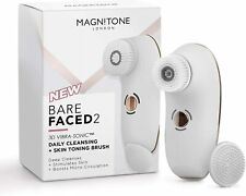 Magnitone BareFaced 2 Daily Cleansing, Skin Toning & Massaging Brush - White