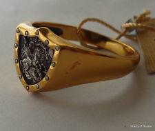 ANILLO HOMBRE PLATA 925 + ORO 999 gild St George Talla US 13.0 #2s