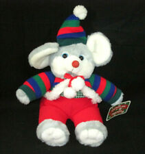 "Dan Dee Mouse Plush Christmas Snowflake Friends 11"" Stuffed Animal With Original"