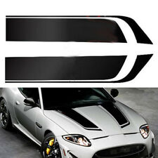 2x Wide Black Racing Car Hood Stripe Decal Auto Vinyl Bonnet Sticker Universal (Fits: Chrysler Concorde)