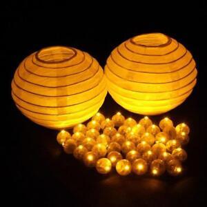 100Pcs/lot Color Round Mini Led RGB Flash Ball Lamp Lantern Balloon Lights Decor