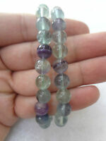 Natural Fluorite 8mm MULTI Color Protection Bracelet Healing Energy