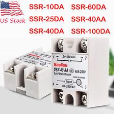 Fotek Solid State Relay Ssr 10da 25da 40da 60da 100da 40aa 480v Dc Control Ac