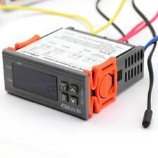 220-240V Digital Temperature Controller Temp Sensor Thermostat 2 Relays Control