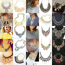 Fashion Pendant Chain Crystal Choker Chunky Statement Bib Chain Necklace Jewelry