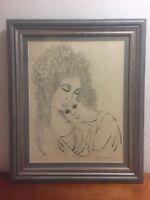 Justine R. Schachter Original Artwork Ink on Paper 'Devotion' Signed # 1/100