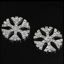 5 Silver tone 2.7 cm Snowflake embellishments jewellery making Craft DIY