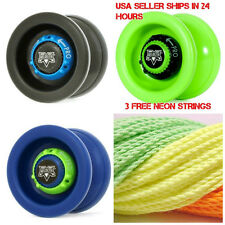 Velocity Yo Yo From The YoYoFactory Black Green or Blue YoYo + 3 Neon Strings