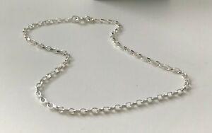 Anklet Ankle Bracelet Solid 925 Sterling Silver Sparkling Belcher Link Chain