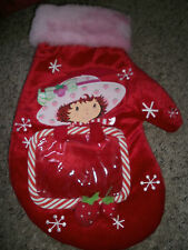 "GENTLY USED STRAWBERRY SHORTCAKE "" STOCKING "" MITTEN WITH PICTURE FRAME"