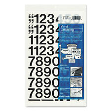 HEADLINE 31131 PRESS ON STICK ON VINYL NUMBERS ONLY BLACK 1/""