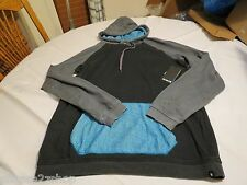 Hurley superior hoodie hoody shirt long sleeve Men's small NEW black MFT0002590