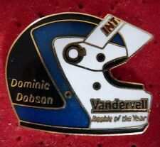 BEAU PIN'S CASQUE PILOTE F 1 FORMULA ONE DTM USA DOMINIC DOBSON EGF MFS