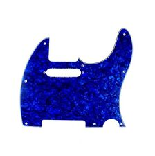 (E06) Guitar Pickguard For Tele Style Guitar , 4Ply Blue Pearl