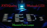 (6)COOL BLUE LED FUSE LAMPS 8V-DIAL VINTAGE 2230-4420 2325/RECEIVER Marantz DIAL