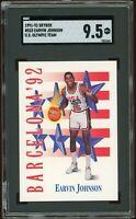 1991-92 Skybox US Olympic Team #533 Earvin Magic Johnson SGC 9.5 =PSA 10?