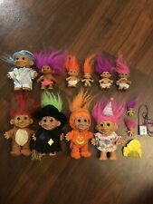 Lot Of Vintage Troll Dolls Russ And Some Other Brands With Accessories