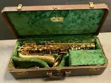 1950 BUESCHER True Tone Aristocrat 140 Series Alto Saxophone w/Original Case, NR