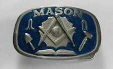 MASONIC SQUARE COMPASS MASON WORKING TOOLS BELT BUCKLE