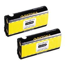 2x Batteria Patona compatibile 1400mAh per Canon Powershot A60,A70,A75,A300