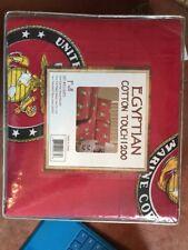 US Marine Corps 1200 Thread Count Egyptian Cotton Full Sheet Set NIP