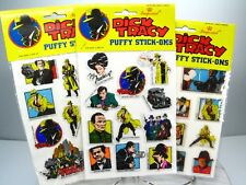 Vtg New Dick Tracy Puffy Stickers Stick-Ons Lot of 3 - 1990 Imperial Walt Disney