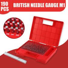 190pcs M1 0061 0250 Steel Pin Plug Gage Set Minus 00002 With Case