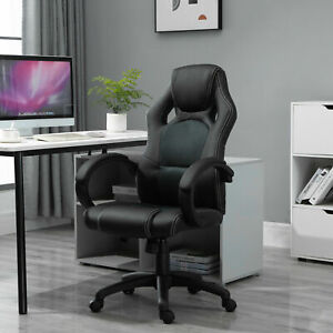 HOMCOM Office Racing Chair Gaming Swivel PU Leather Computer Seat Home Office