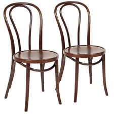 Set of 2x Genuine Bentwood A-18 Chair by Michael Thonet - Walnut