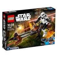 75532 LEGO Star Wars Scout Trooper & Speeder Bike 452 Pieces Age 10 Years+