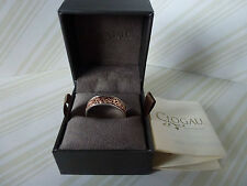 Clogau Welsh Gold, Silver & Rose Gold Celtic Eternity Ring Size R RRP £179