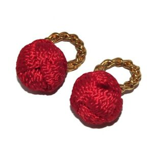 Agatha Pendants Or Charms Color Gold And Red For Earrings Jewel