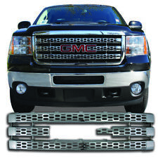 1PC ABS CHROME OVERLAY GRILLE GRILL GI-90 FITS 2011-2014 GMC SIERRA 2500 3500 HD