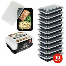 Meal Prep Food Containers PlasticTakeaway Microwave Storage Freezer Boxes + LIDS
