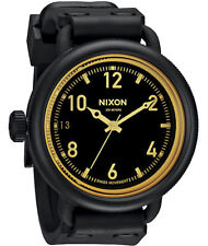 Nixon October Watch (Matte Black / Orange Tine)