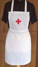 GIRLS WHITE FULL APRON NURSE RED CROSS WW1 VICTORIAN  EDWARDIAN fancydress