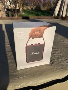 Marshall Stockwell II Burgundy Active Stereo Bluetooth Speaker