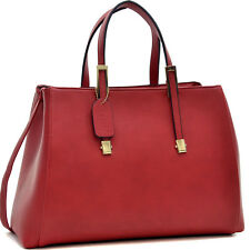 New Dasein Women Leather Handbag Briefcase Satchel Tote Hobo Shoulder Bag Purse