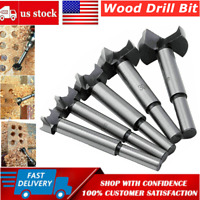 5pcs Forstner Wood Drill Bits Set Hole Saw Cutter Wood Tools with Round Shank US