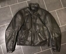 Mens DAINESE Black leather motorcycle jacket good used condition black 54 EU