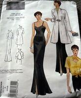 1930s VOGUE VINTAGE MODEL EVENING DRESS COAT & BLOUSE SEWING PATTERN 18-20-22 UC