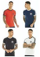 Adidas Originals Mens Short Sleeve T Shirt 3-Stripes California Cotton T-Shirt
