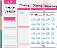 P1615 Kawaii Cloudy Weather Trackers Planner Stickers