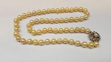 Akoya perle collier collana collier di perle oro 585 CHIUSURA zaffiro 45 cm