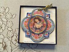 "1993, Edna Hibel, Numbered Christmas Ornament, ""Christmas Rose,"" #7469/10,000"