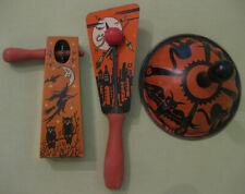 1920's -1930's Bundle of 3 Halloween Noisemakers-Collector Pieces, Hard to Find