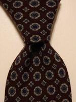 ROBERT TALBOTT Best of Class Men's Wool Necktie Geometric Purple/Gray/Blue EUC