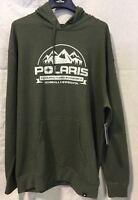 Polaris Roseau Hoodie - Men's 2XL - Olive Color - # 286857612 - FREE SHIPPING